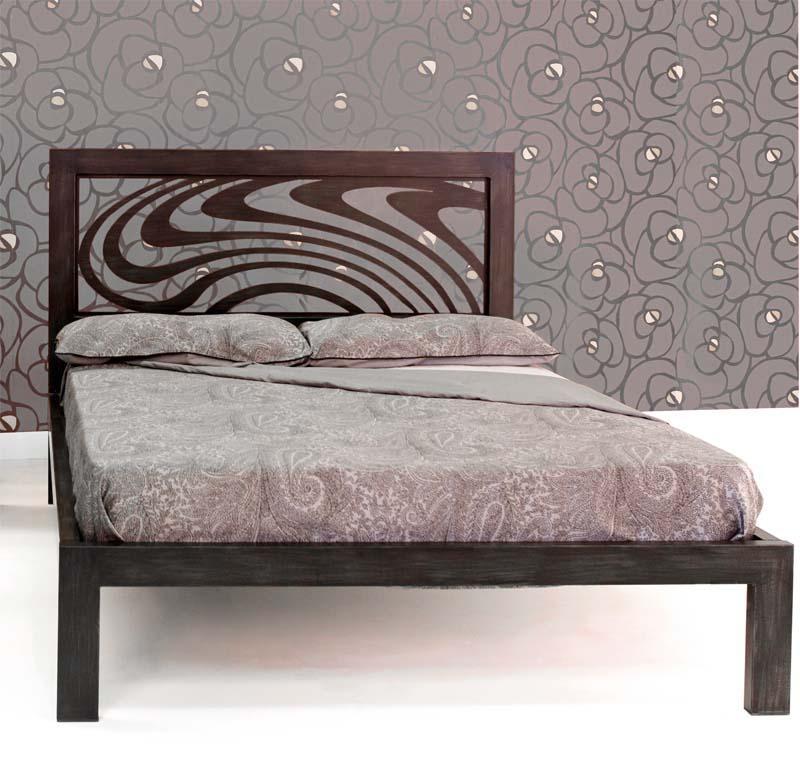 Cama 160 ondas dormitorios de forja chasol camas - Camas de forja ...