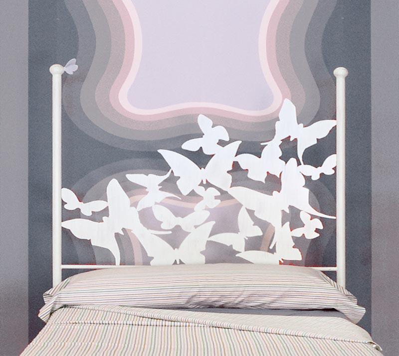 Cabecero 145 mariposas dormitorios de forja chasol camas - Cabeceros de forja ...