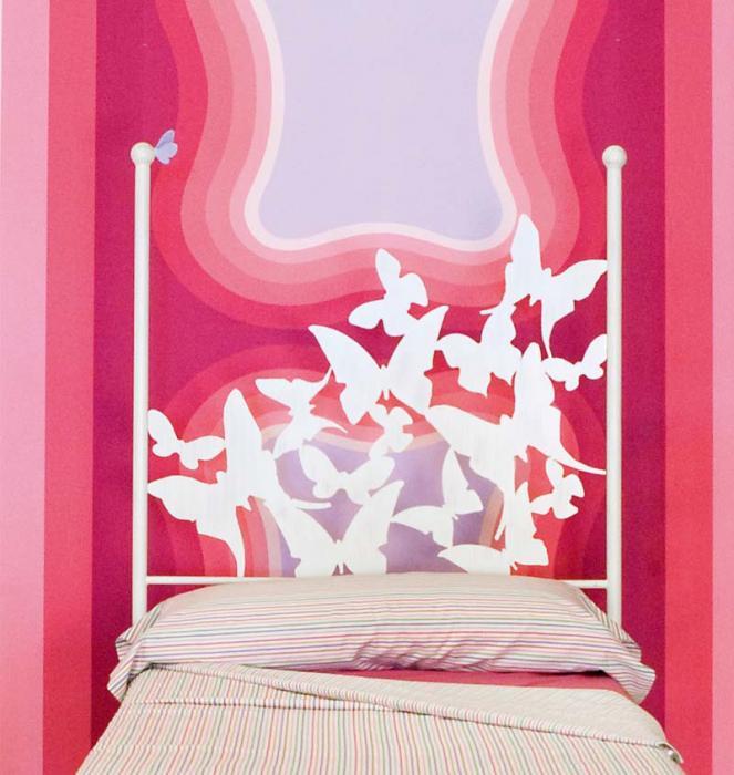 Cabecero 100 mariposas dormitorios de forja chasol camas - Cama forja blanca ...