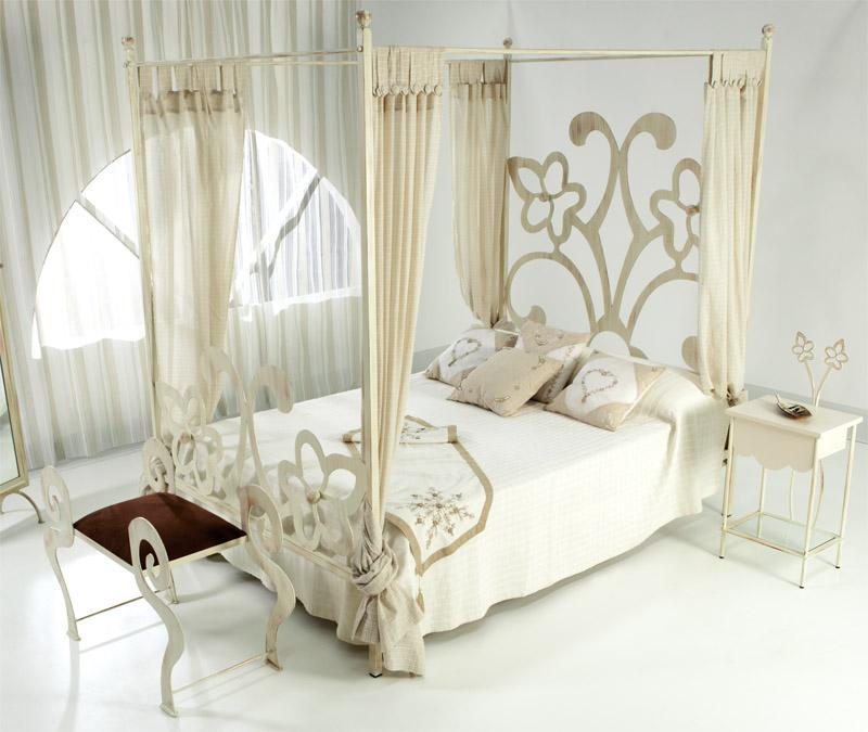 cama dosel sandra complmentos de forja chasol. Black Bedroom Furniture Sets. Home Design Ideas
