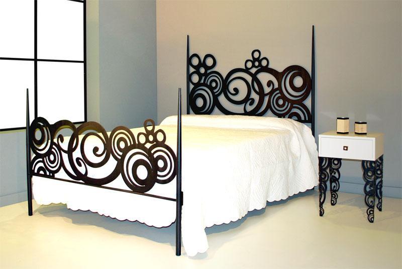 Cama 160 deco dormitorios de forja chasol camas - Cabecero de hierro ...