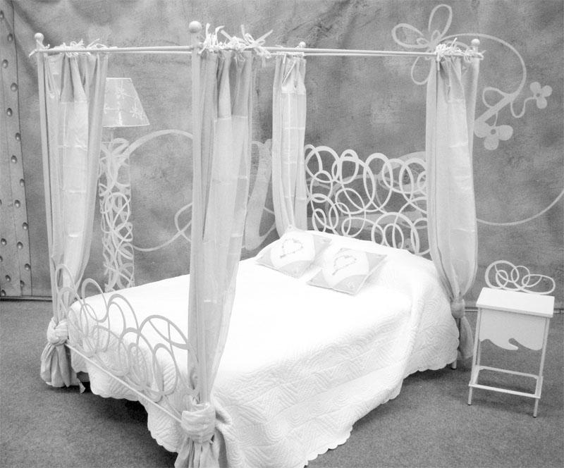 Cama dosel enredo dormitorios de forja chasol camas - Cama con dosel ...