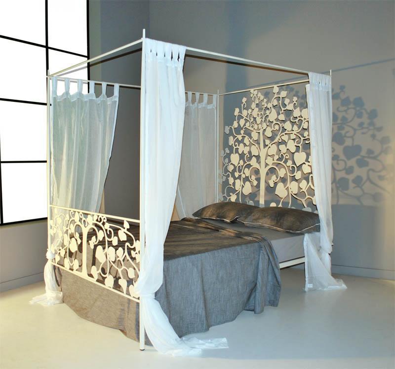 Cama dosel 145 fortuna dormitorios de forja chasol camas - Camas con dosel ...