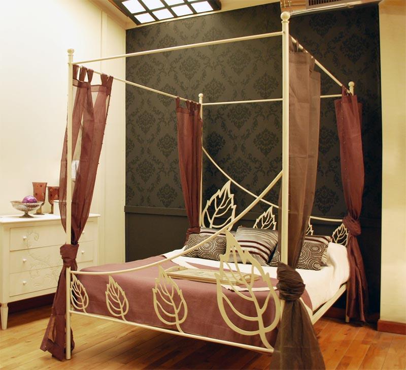 Cama dosel iris dormitorios de forja chasol camas - Dosel para cama ...