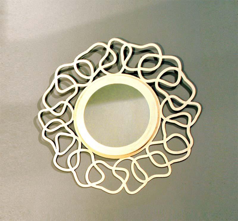 Espejo circular dakar dormitorios de forja chasol camas for Espejo circular