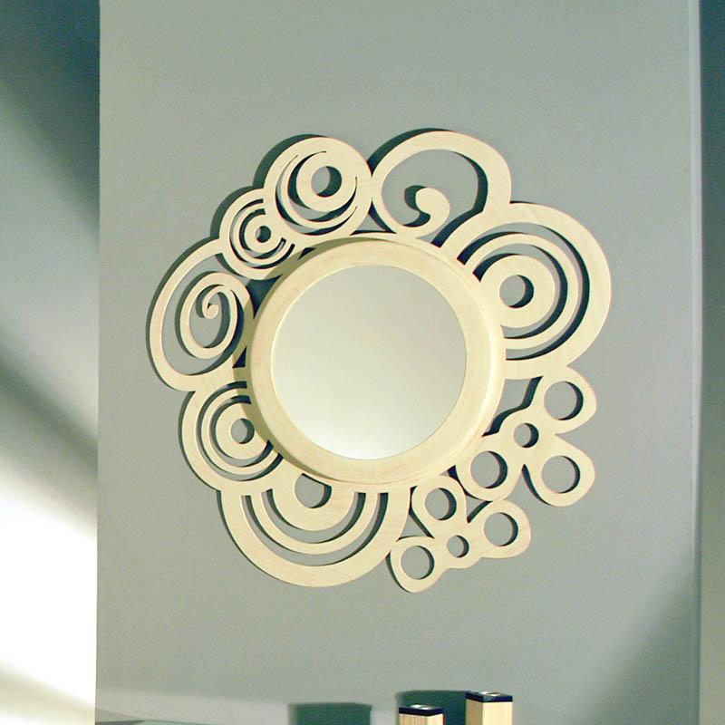 Espejo circular deco dormitorios de forja chasol camas for Espejo circular