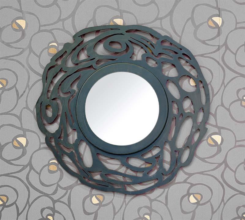 Espejo circular pacifico dormitorios de forja chasol for Espejo circular