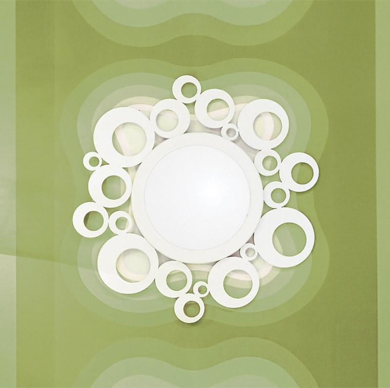Recibidores de forja chasol camas for Espejo circular
