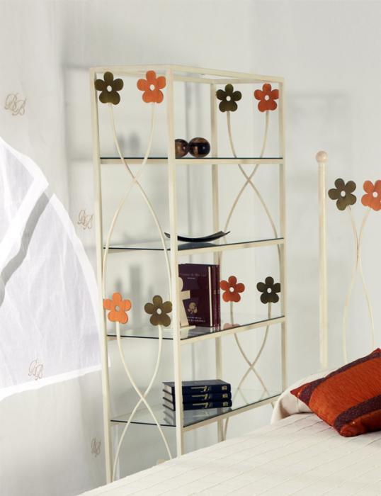 Estanteria primavera dormitorios de forja chasol camas - Estanteria forja ...