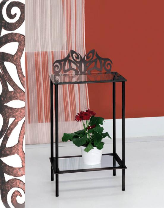 Mesilla de forja eros dormitorios de forja chasol camas for Mesillas de forja ikea